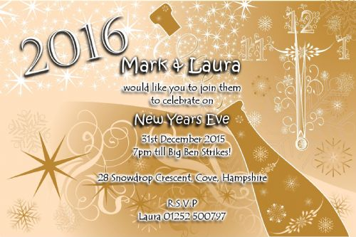 10 Personalised New Years Eve Party Invitations No2